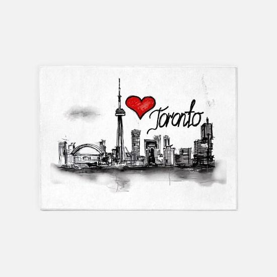 I love Toronto 5'x7'Area Rug