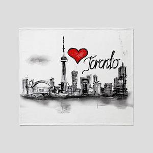 I love Toronto Throw Blanket
