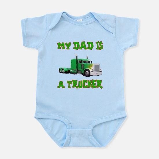 My Dad Is A Trucker Infant Bodysuit