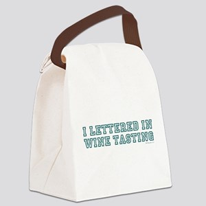 LETTERED TEAL Canvas Lunch Bag