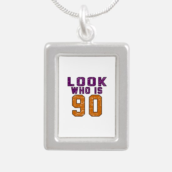 Look Who Is 90 Silver Portrait Necklace