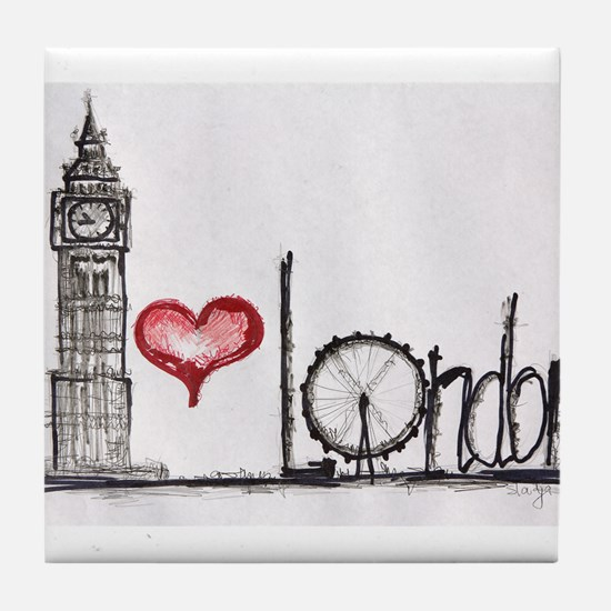 I love London Tile Coaster