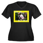 Don't Eat Me Women's Plus Size V-Neck Dark T-Shirt