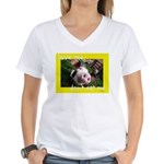 Don't Eat Me Women's V-Neck T-Shirt