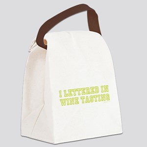 LETTERED GREEN Canvas Lunch Bag