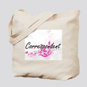 Correspondent Artistic Job Design with Fl Tote Bag