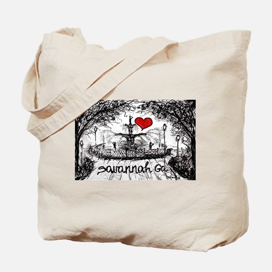 I love savannah Ga Tote Bag