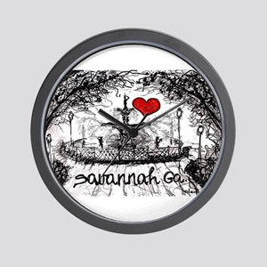 I love savannah Ga Wall Clock
