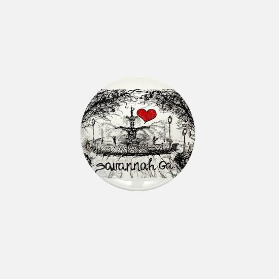 I love savannah Ga Mini Button