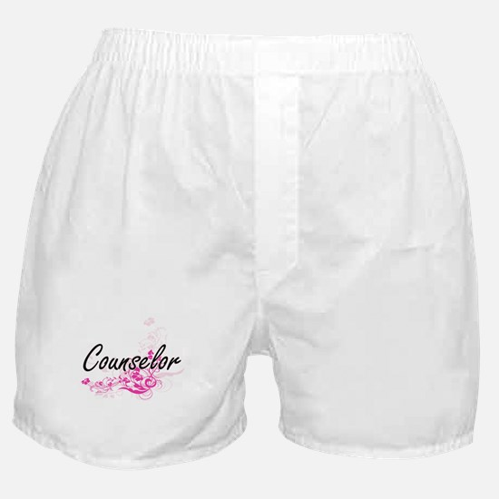 Counselor Artistic Job Design with Fl Boxer Shorts