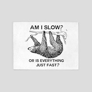 Sloth Am I Slow? 5'x7'Area Rug