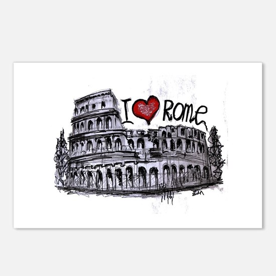 I love Rome Postcards (Package of 8)