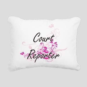 Court Reporter Artistic Rectangular Canvas Pillow