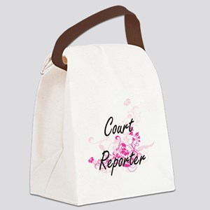 Court Reporter Artistic Job Desig Canvas Lunch Bag