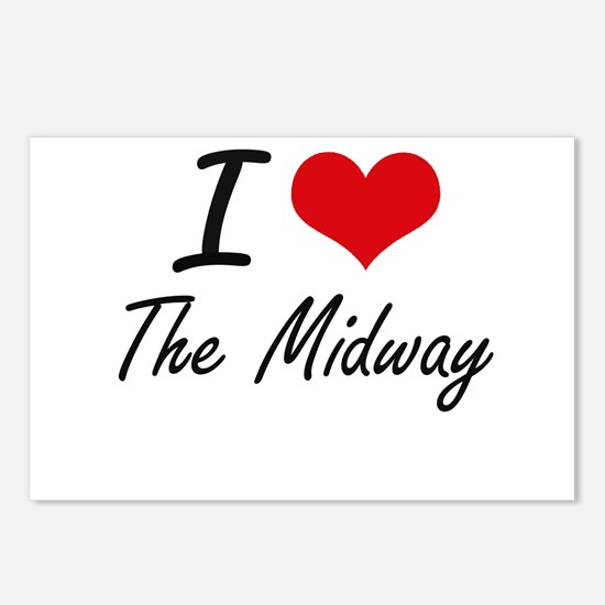 I love The Midway Postcards (Package of 8)