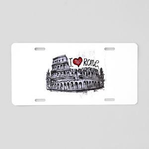 I love Rome Aluminum License Plate