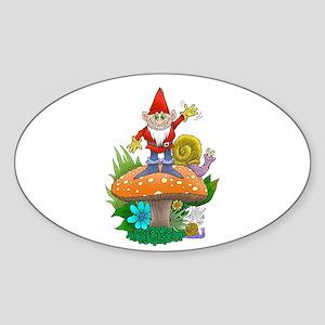 Waving gnome. Sticker