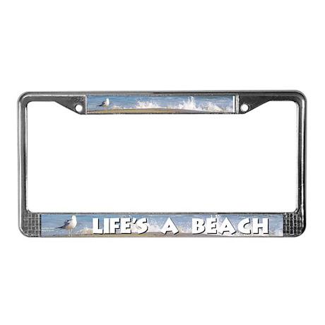 "License Plate Frame, ""Life's a Beach"" by JD Scott"