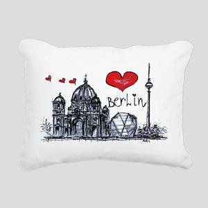 I love Berlin Rectangular Canvas Pillow