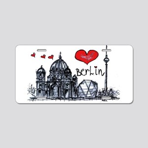 I love Berlin Aluminum License Plate