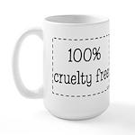 100% Cruelty Free Large Mug