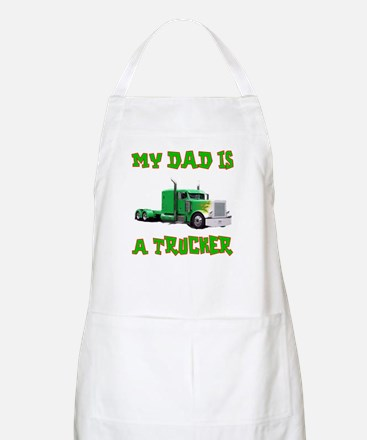 My Dad Is A Trucker BBQ Apron