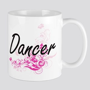 Dancer Artistic Job Design with Flowers Mugs