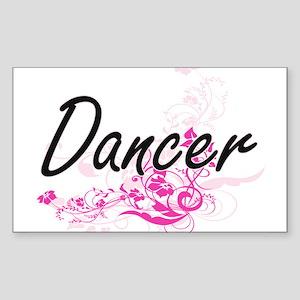 Dancer Artistic Job Design with Flowers Sticker
