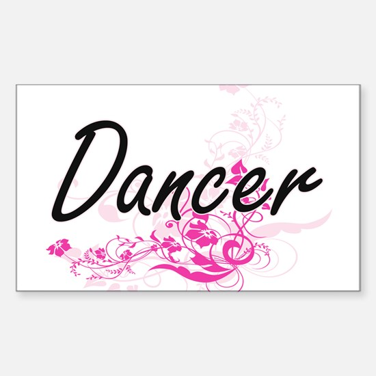 Dancer Artistic Job Design with Flowers Decal