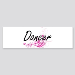 Dancer Artistic Job Design with Flo Bumper Sticker