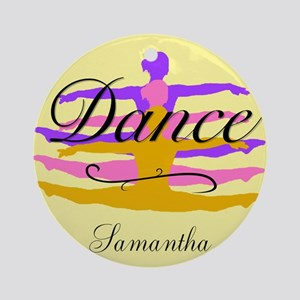 Yellow Dance Round Ornament