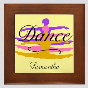Yellow Dance Framed Tile