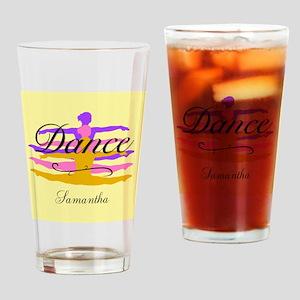 Yellow Dance Drinking Glass