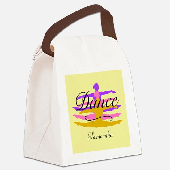 Yellow Dance Canvas Lunch Bag