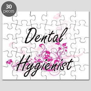 Dental Hygienist Artistic Job Design with F Puzzle