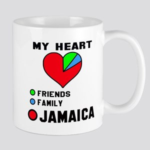 My Heart Friends, Family and jam 11 oz Ceramic Mug