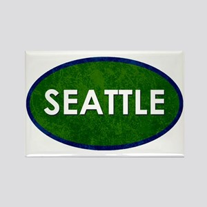 Seattle White Green Stone Magnets