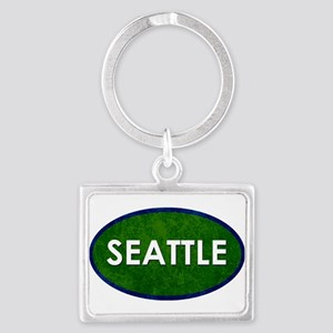 Seattle White Green Stone Keychains
