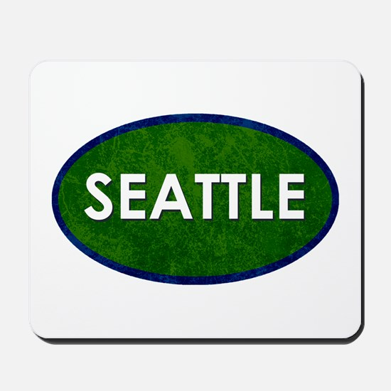 Seattle White Green Stone Mousepad