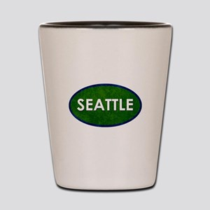 Seattle White Green Stone Shot Glass