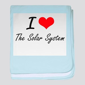 I love The Solar System baby blanket