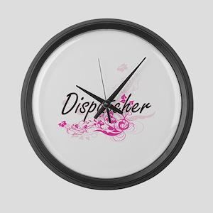Dispatcher Artistic Job Design wi Large Wall Clock