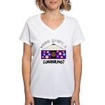 Wanna Start A Commune? Women's V-Neck T-Shirt