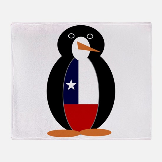 Penguin of Chile Throw Blanket