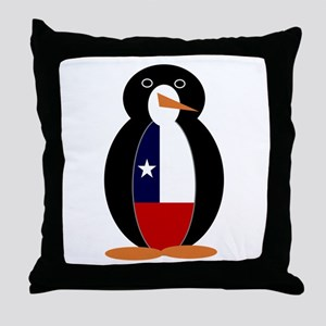 Penguin of Chile Throw Pillow