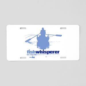 fishwhisperer Aluminum License Plate