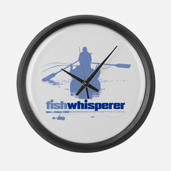 fishwhisperer Large Wall Clock