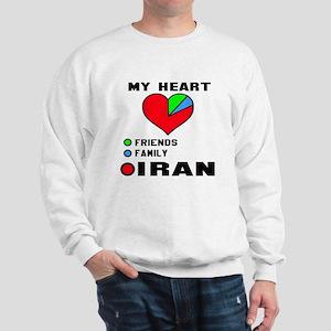 My Heart Friends, Family and Iran Sweatshirt