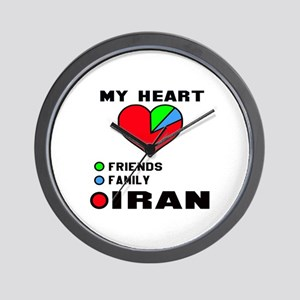 My Heart Friends, Family and Iran Wall Clock