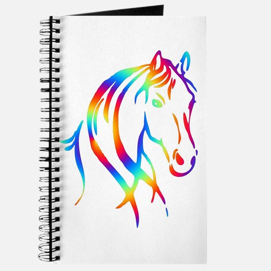Colorful Horse Head Journal